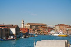 Great channel of Murano Island, Italy Stock Photography