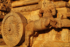 The Great chariot. At The Great Chola Temple at Darasuram,Tamil Nadu Royalty Free Stock Photography