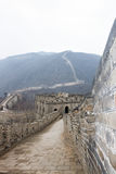 Great China Wall, Beijing, China, overcast day Stock Photos