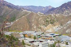 Great Chinese wall in the spring. Well-known great Chinese wall in the spring Stock Photography