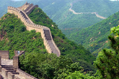 The great Chinese wall. View of the great Chinese wall Royalty Free Stock Photo