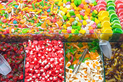 Great choice of candy at a market Royalty Free Stock Photos