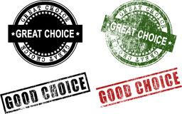Great Choice Good Choice Rubber Stamps (Vector) Royalty Free Stock Photos