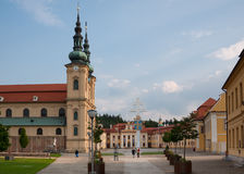 The great Christian basilica in the Czech Republic Stock Photos