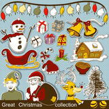 Great Christmas collection Royalty Free Stock Photos