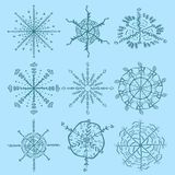 Great_2_Christmas and new year set of elements for snowflake bac. Vector large Christmas and new year set of snowflake design elements for decoration and design royalty free illustration