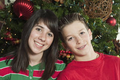 Great Christmas Smiles Stock Photography