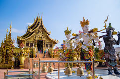 Great church backside of fairy statue. At Chiang Rai, Thailand Royalty Free Stock Photos