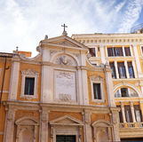 Great church in center of Rome, Italy. Great church in center of Rome - Eternal City, Rome. Italy stock photo