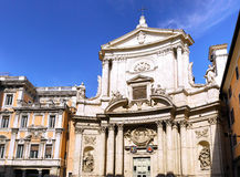 Great church in center of Rome, Italy. Great church in center of Rome - Eternal City, Rome. Italy stock images