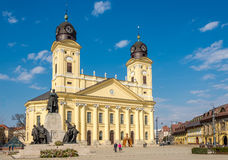 Great church at the place of Kossuth in Debrecen - Hungary Royalty Free Stock Image