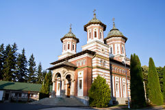 The Great Church at the Sinaia Monastery. Romania stock image