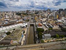 Great cities, great avenues, houses and buildings. Light district Bairro da Luz, Sao Paulo Brazil, Rail and subw stock photos