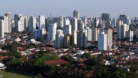 Great cities at day, Sao Paulo Brazil South America. Brooklin  neighborhood stock video