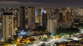 Great cities at night, Sao Paulo Brazil South America royalty free stock images