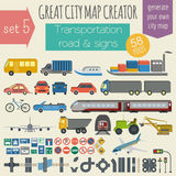 Great city map creator. House constructor.  Stock Photography