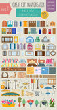 Great city map creator. House constructor. House, cafe, restaura Royalty Free Stock Images