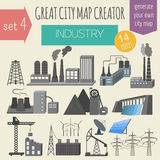 Great city map creator. House constructor. House, cafe, restaura Stock Image