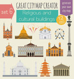 Great city map creator. House constructor. House, cafe, restaura Stock Photo
