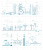 Great city map creator. Outline version. House constructor. Hous Royalty Free Stock Image