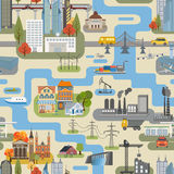 Great city map creator.Seamless pattern map. Royalty Free Stock Photography