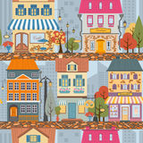 Great city map creator.Seamless pattern map. Royalty Free Stock Images