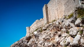 Great City Wall of Old Town Dubrovnik stock photo