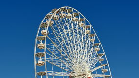 Great Classical Fair Ferris Wheel In Toulouse stock footage