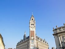 Great clock of Lille, Paris Opera House (North France) Stock Photos