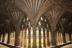 Great cloister Canterbury Cathedral Stock Photos