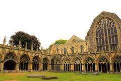 Great cloister Canterbury Cathedral Stock Photo
