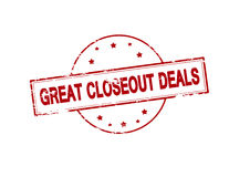 Great closeout deals Stock Photography