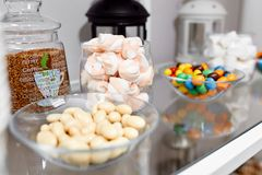 Photo of sweets on the table Stock Images