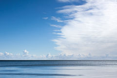 Great cloud over the sea. Nature background Royalty Free Stock Photography