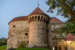 Great Coastal Gate and Fat Margaret's Tower. September evening, golden hour stock photography