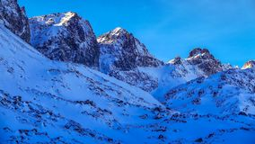 Winter landscape in rocky Mountains, High Tatras, Slovakia. Great Cold Valley, High Tatras, Slovakia Royalty Free Stock Images
