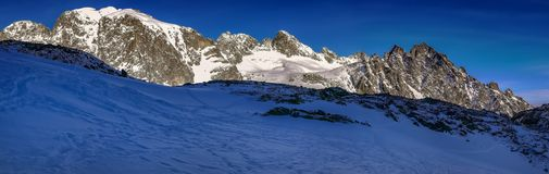 Great Cold Valley. In the High Tatras, the world`s smallest heights Royalty Free Stock Photo
