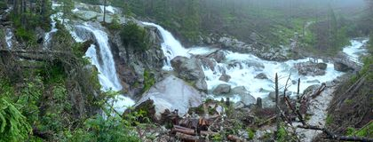 Great Cold Valley summer view (High Tatras, Slovakia). royalty free stock photography