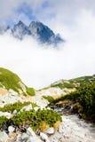 Great Cold Valley, Vysoke Tatry & x28;High Tatras& x29;, Slovakia. Outdoor, outdoors, outside, exterior, exteriors, europe, eastern, republic, czechoslovakia royalty free stock photo