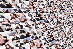 Great collage made by Business people group Royalty Free Stock Images