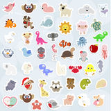 Great collection of cute children`s labels. Royalty Free Stock Photos