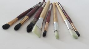 Paint brushes collection for the creative artist royalty free stock photos