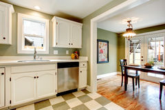 Great color solution for kitchen room design Stock Photos