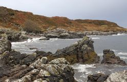 Great colored rocky coast in Scotland Royalty Free Stock Image