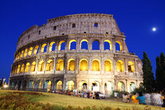 Great Colosseum at dusk, Rome, Italy Stock Photos