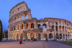 Great Colosseum at dusk Stock Images