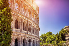 Great Colosseum at sunset in Rome, Italy Stock Photography