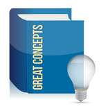 Great concepts lightbulb book Stock Image