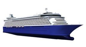 Great Contemporary Blue Cruise Ship Royalty Free Stock Photos