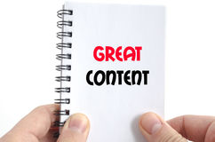Great content text concept Stock Photos